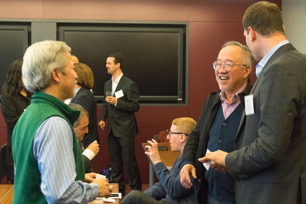 Rhodemann Li, Vesselon, Stephen Chang, ABCT Coach, and Mike Baran, Pfizer
