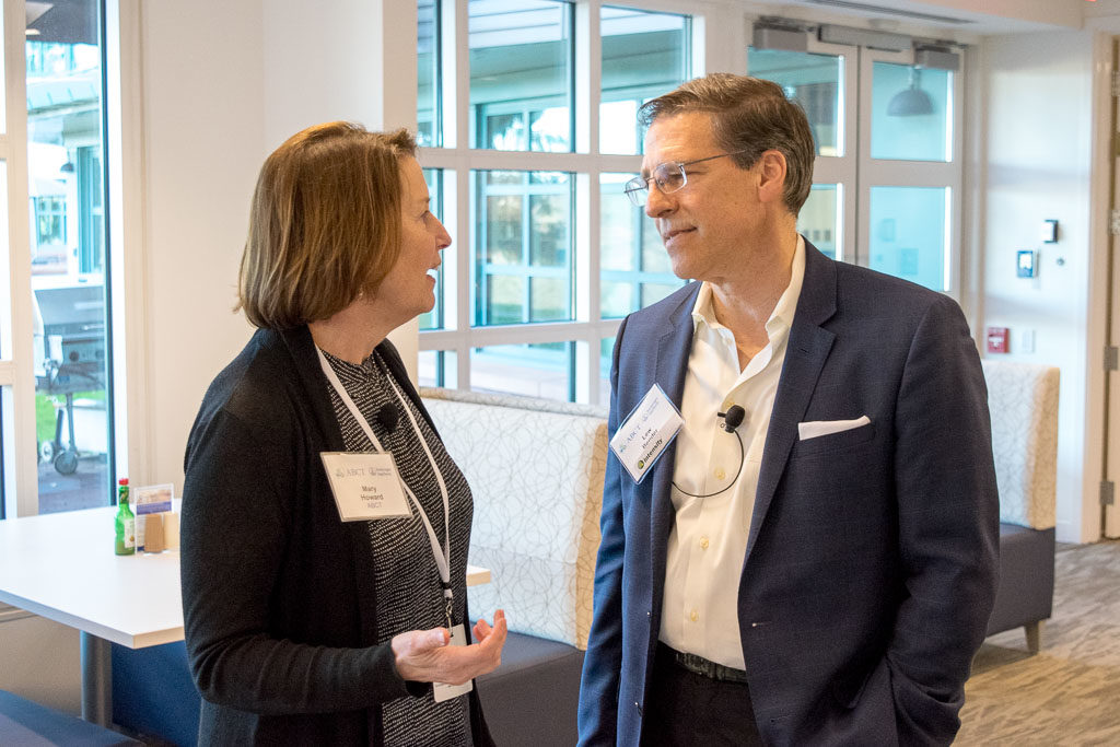 Mary Howard, ABCT Program Manager, and Lew Bender, Intensity Therapeutics