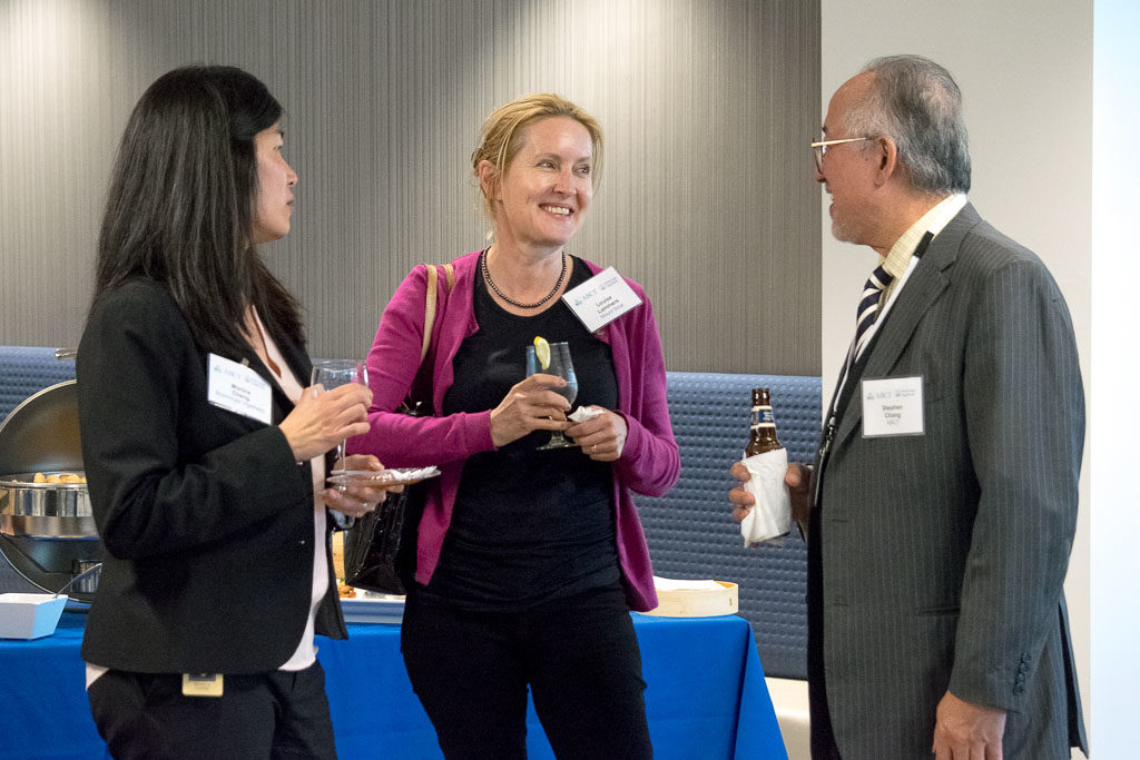 Monica Cheng, Boehringer Ingelheim, Louise Lammers, Mount Sinai, and Stephen Chang, ABCT Coach