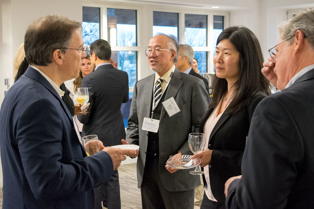 Lew Bender, Intensity Therapeutics, Stephen Chang, ABCT coach, and Monica Cheng, Boehringer Ingelheim