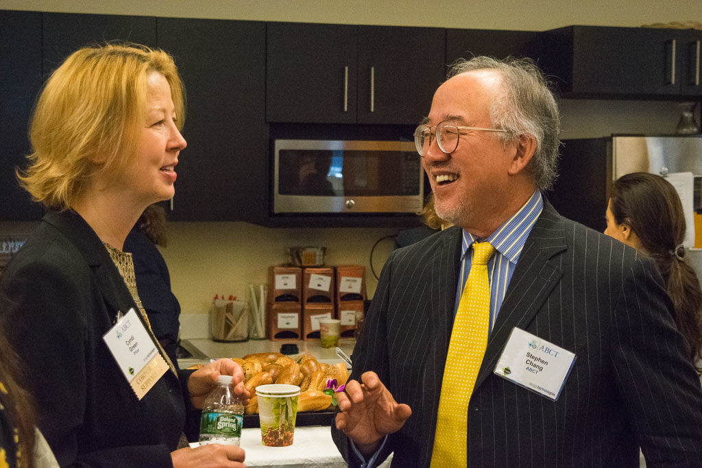 Cyndi Green, Pfizer, and Stephen Chang, ABCT