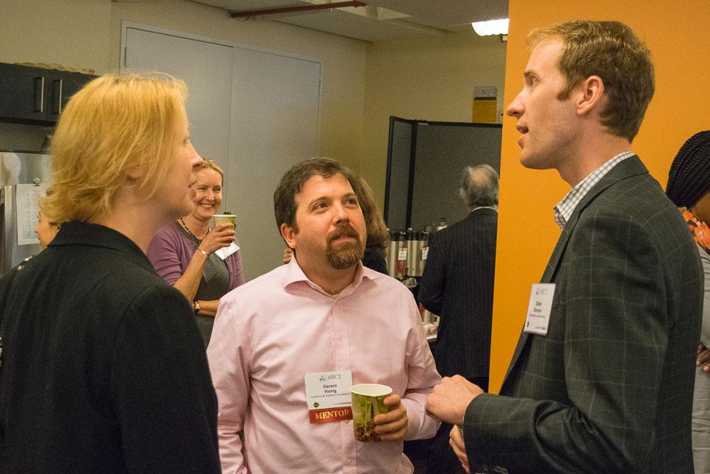 Cyndi Green, Pfizer, Gerald Honig, Crohn's & Colitis Foundation, and Blake Stevens, Alexandria Launch Labs
