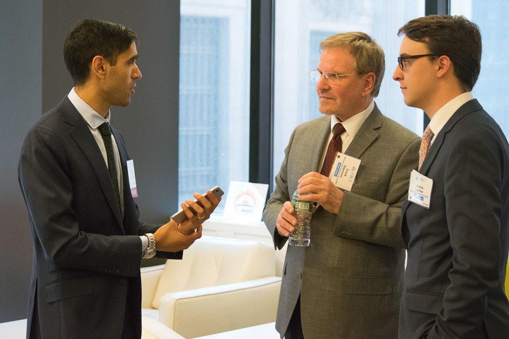 Rohit Joshi, GraftWorx, with Frank Swenson and Andrew Lightner, Mission Biomedical Scientific
