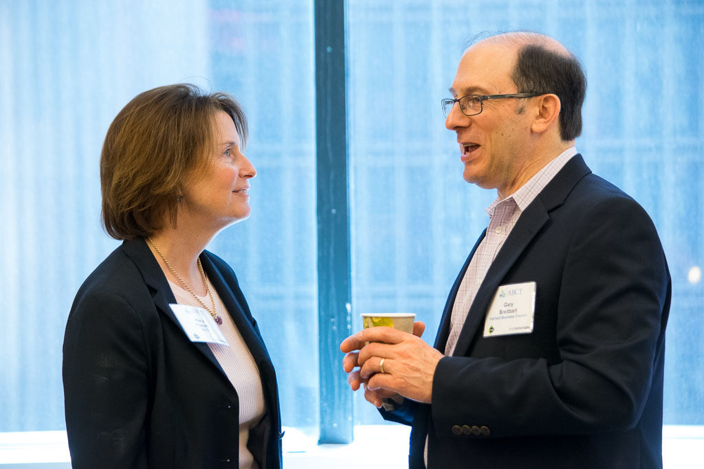 Mary Howard, ABCT Program Manager, and Gary Breitbart, Fairfield Business Council
