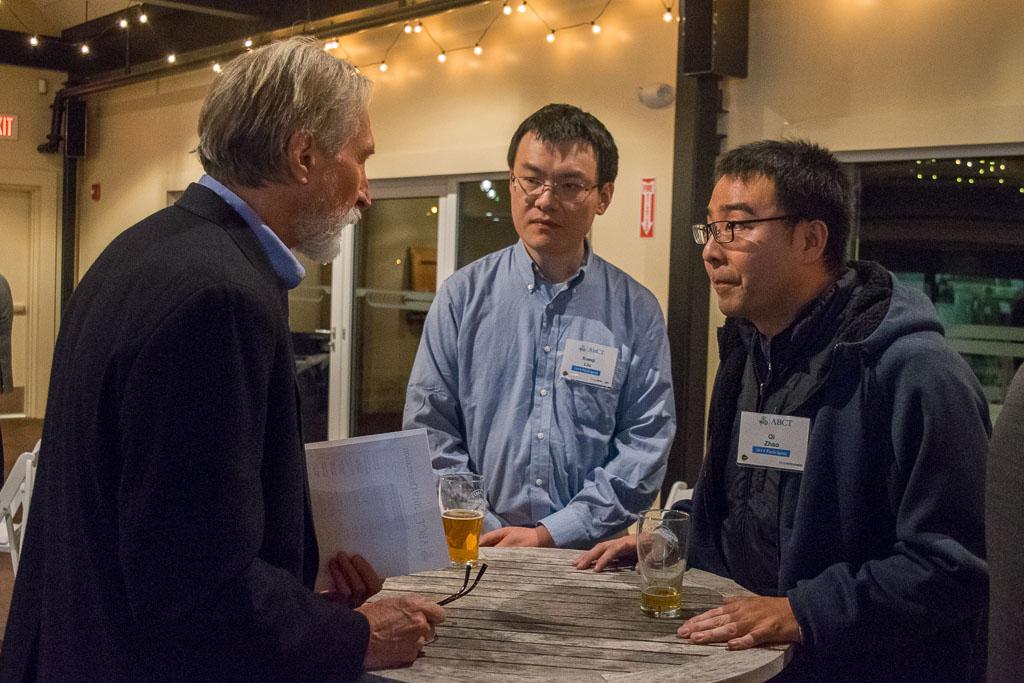 Bob Barry, Kaneka, and Xueqi Liu and Qi Chao, Enrich Therapeutics Inc.