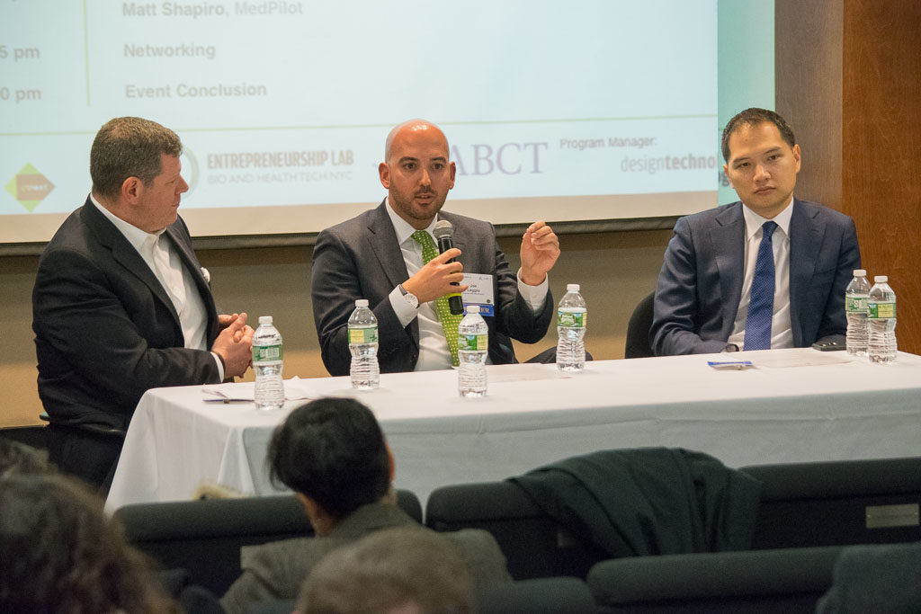 Mike Berger, Mount Sinai Health System, Joe Leggio, Northwell Health, and David Tsay, Columbia Presbyterian