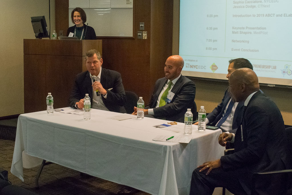 Mike Berger, Mount Sinai Health System, Joe Leggio, Northwell Health, David Tsay, Columbia Presbyterian and Yves Duroseau, Lenox Hill-Northwell