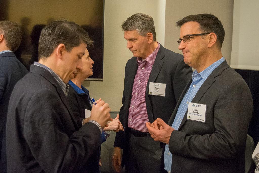 Brian Adam, Brain Institute America and Wally Haddick, Drive DeVilbiss Healthcare
