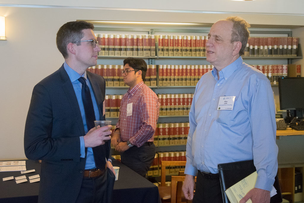David Tusio, U.S. Senator Chris Murphy (left), Mike Jaffe, Cardiorespiratory Consulting LLC