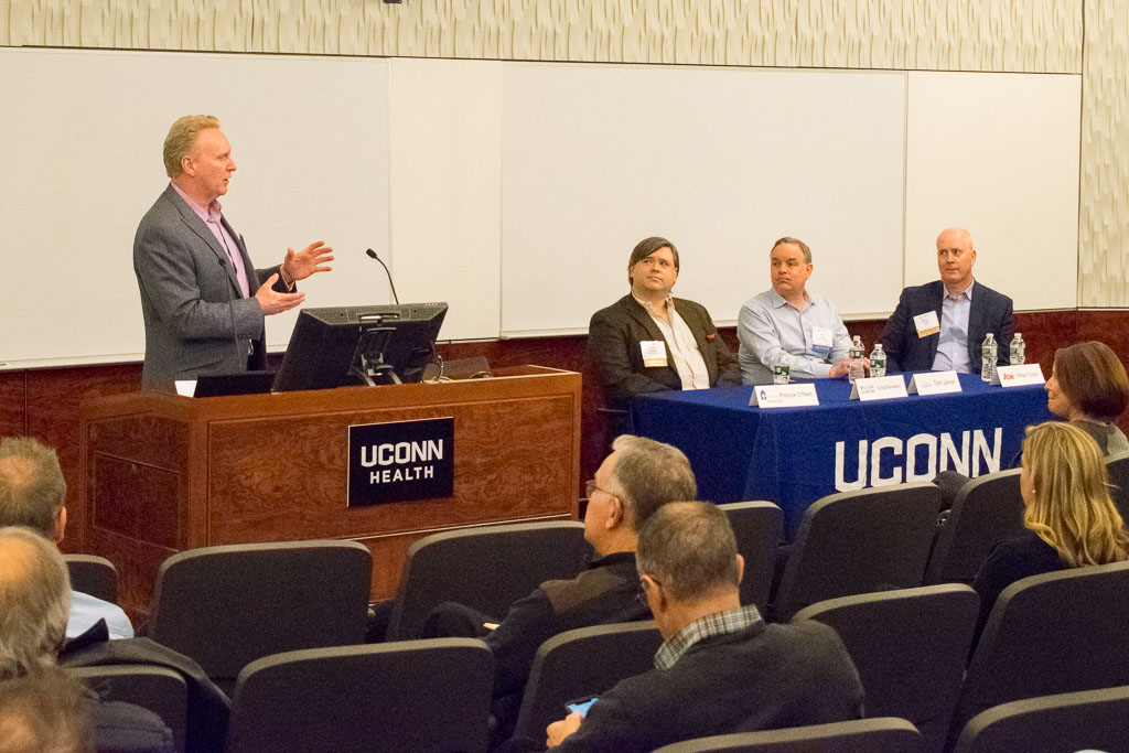 Patrick O'Neill, CT Innovations, Dr. Craig S. Kenesky, Wilson Sonsini, Dr. Thomas Jarvie, Shoreline Biome & Peter Cross, Aon