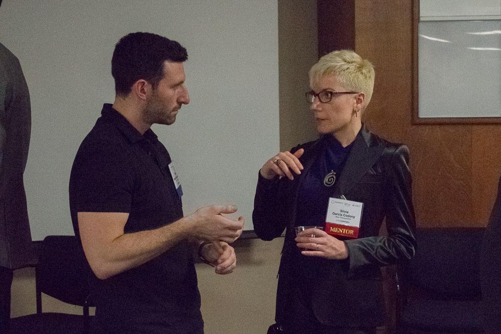 Ethan Wergelis-Isaacson, DreamIt Ventures; Silvia Garcia Codony, Mira Therapeutics